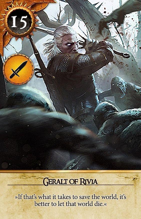 Geralt of rivia gwent card the witcher 3 wild hunt - Ciri gwent card witcher 3 ...