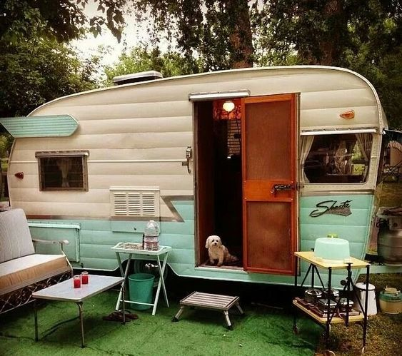 Cute Little Pink Trailer Camping In Style Pinterest Camping - Old shabby trailer gets one hell makeover