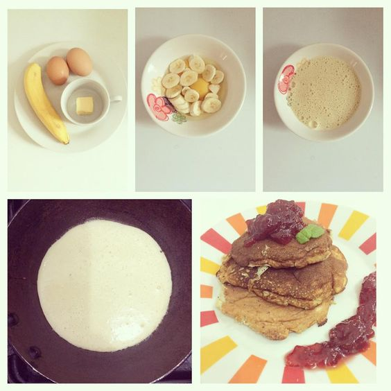 Diy - Mini hotcakes de plátano