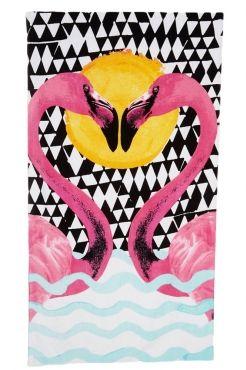 Sweet Flamingo Lover Rectangular Beach Towel