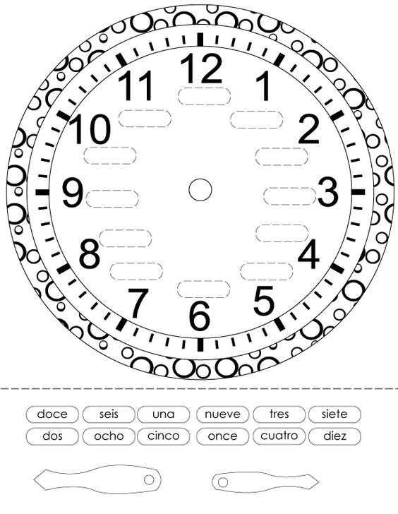 Worksheets Time In Spanish Worksheet time in spanish and on pinterest printout