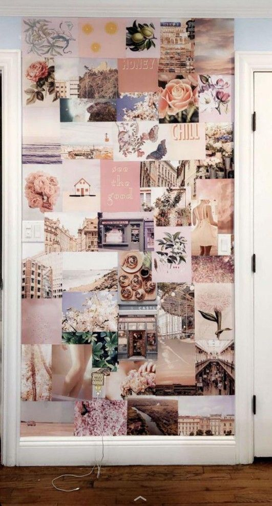 Peachy Pink Collage Kit Etsy Wall Collage Decor Photo Walls Bedroom Picture Wall Bedroom