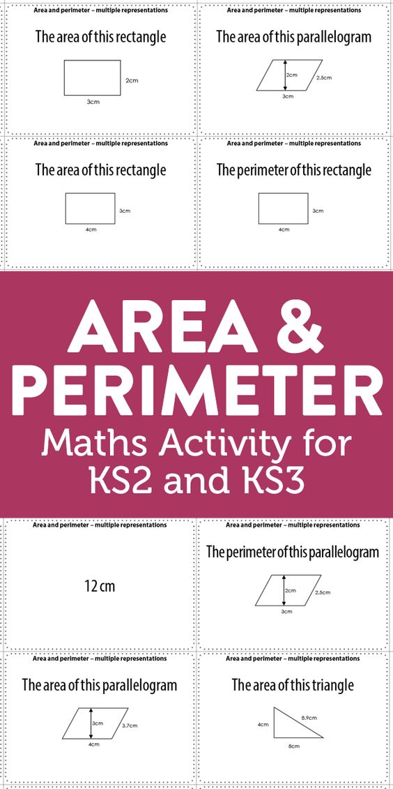 Area and Perimeter - Maths Activity for Key Stage 2 and 3