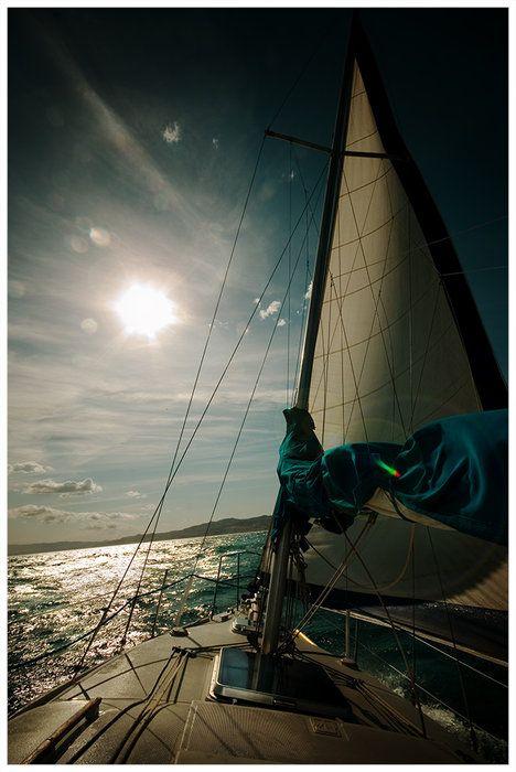 On the sea.