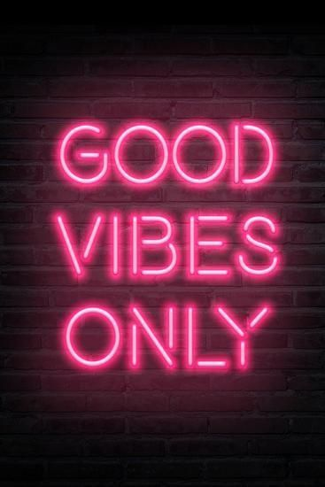 Good Vibes Only Pink Neon Art Print Art Com In 2020 Neon Art Print Pink Wallpaper Iphone Picture Collage Wall