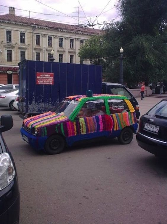 7. You can drive piñata cars in Russia!