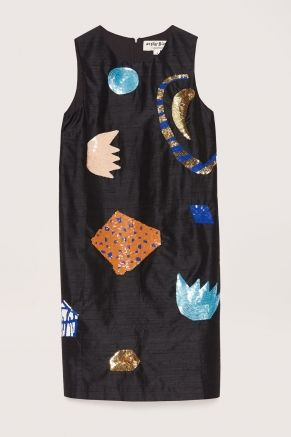 Fleur Noir Sequinned Dress