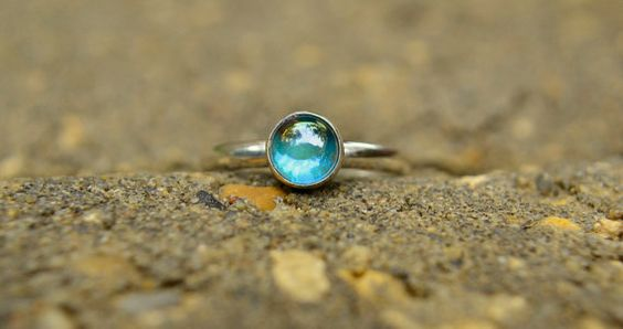 Simple but beautiful | Rainbow Topaz Ring in Sterling Silver by AbishEssentials on Etsy, $55.68