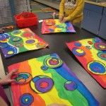 assembling - Kandinsky elementary art education painting collage color theory texture rubbing