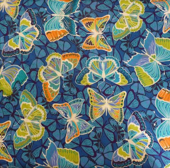 Free Spirit Fabric | Butterfly Fabric 'Cocoon' Free Spirit of by SuesFabricNSupplies
