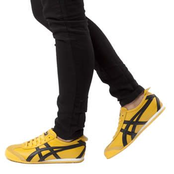 brand new bdd58 128db onitsuka tiger mexico 66 yellow black mens trainers
