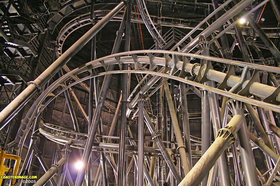 Flight of Fear Indoor Coaster (with lights on), Kings Island