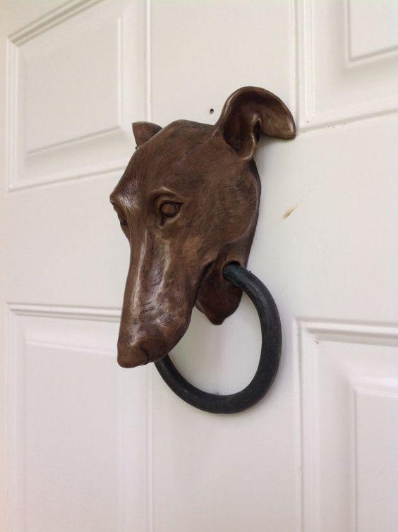 Greyhound Doorknocker by Dogknockers on Etsy