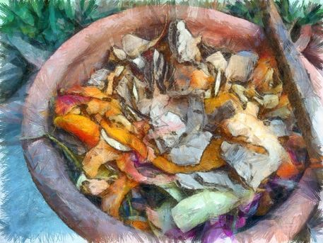 ' Preparing a compost bin' by Ashish Agarwal on artflakes.com as poster or art print $16.63