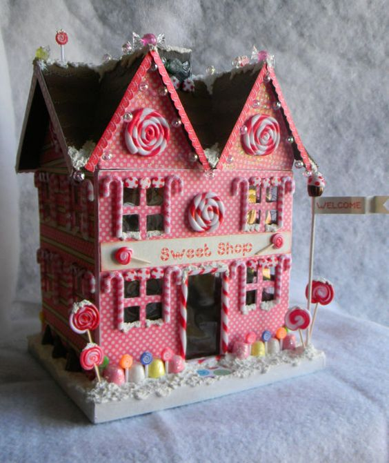 Paper mache christmas paper and christmas houses on pinterest for Paper mache christmas
