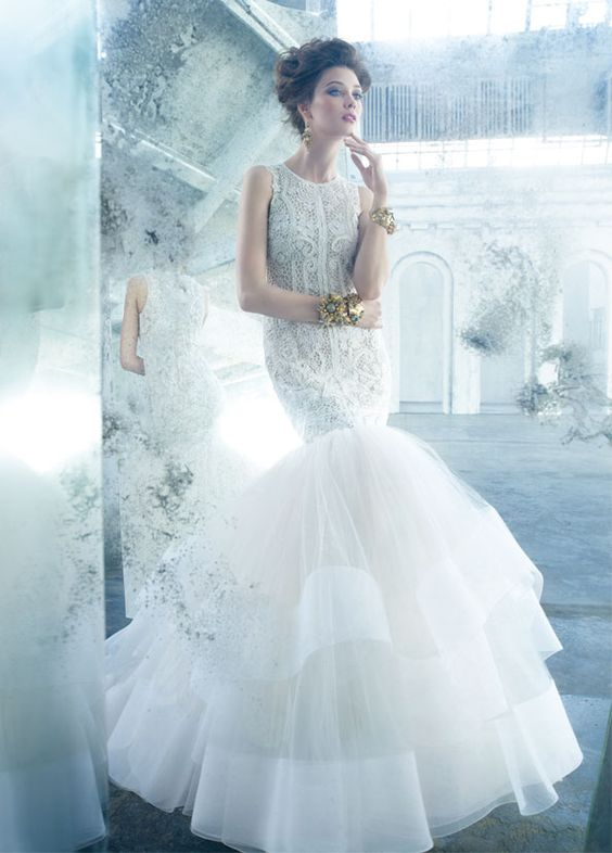 Ultimate fishtail gown by Lazaro | Wedding dresses | Pinterest ...