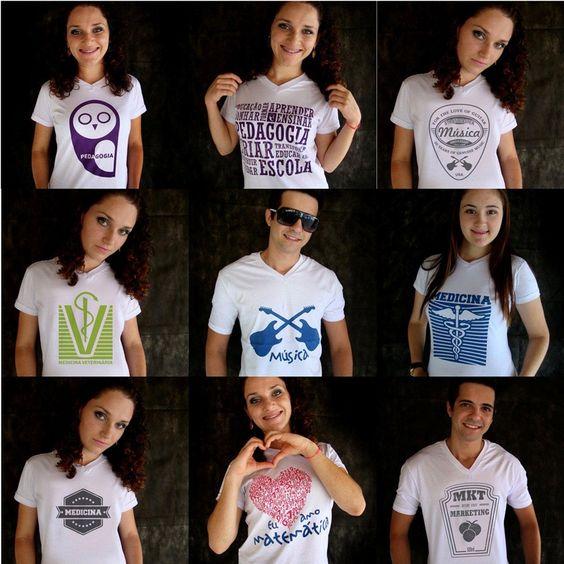 Camisas Universitárias para estudantes e afins. veja outros modelos no site www.moveclube.com.br