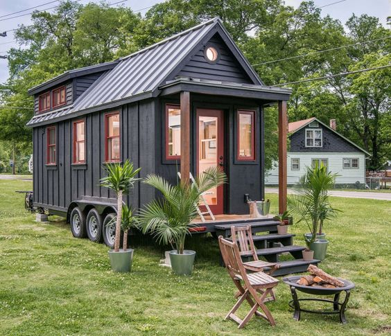 This is the Riverside Tiny House Its built by New Frontier Tiny