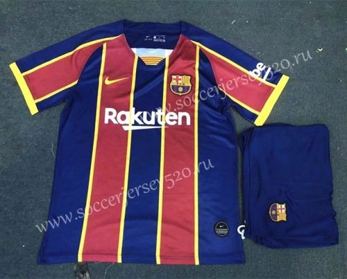 2020 2021 Barcelona Home Red Blue Soccer Uniform In 2020 Soccer Uniforms Barcelona Football Sweater