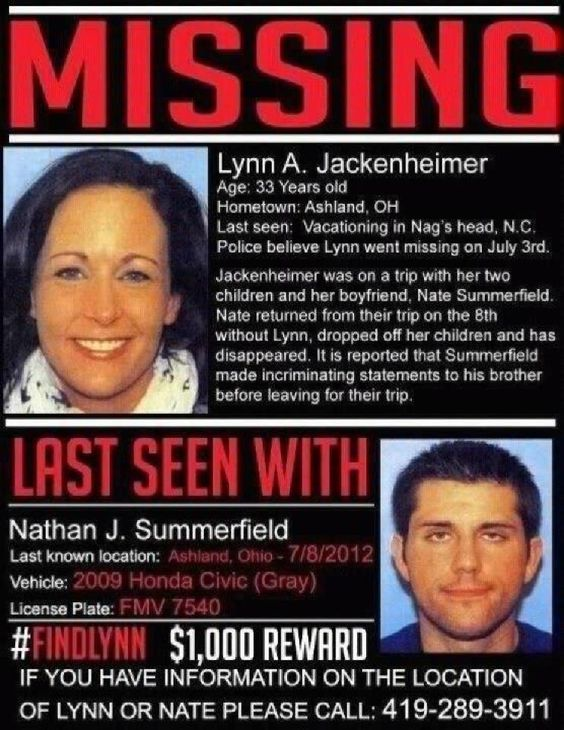 Mother Never Returned From Vacation Missing persons, Ohio and People - missing reward poster template