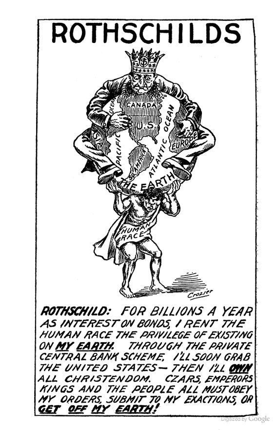 101 yr Old Cartoons Explain Todays Political Paradigm Newspaper Cartoons from 1912 explain everything happening today – 4. The sum total is you are a debt/tax slave to the Rothschilds: