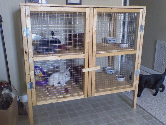 Hutch ideas rabbit and rabbit cages on pinterest for Rabbit hutch ideas