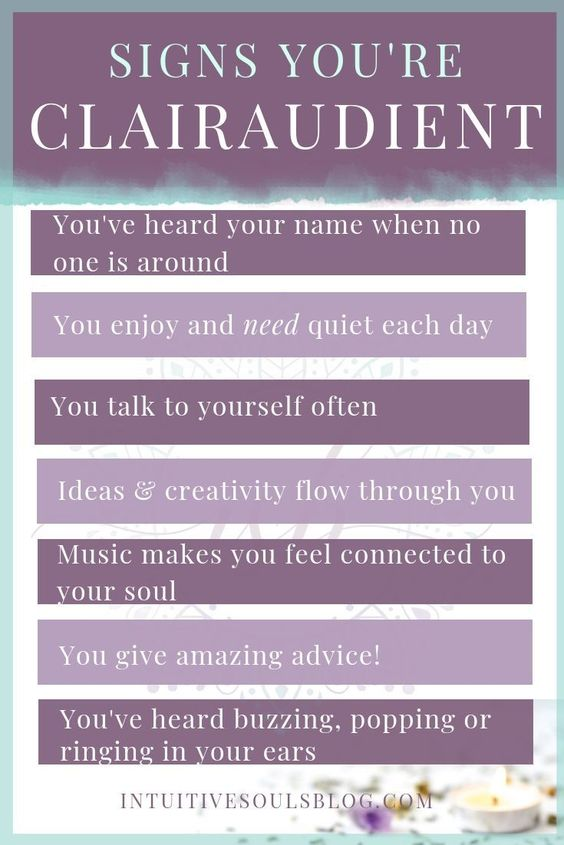 Do these clairaudient signs resonate with you? If so, click to read through to the blog post and learn all of the signs that clairaudience is one of your psychic abilities. #intuitivesoulsblog