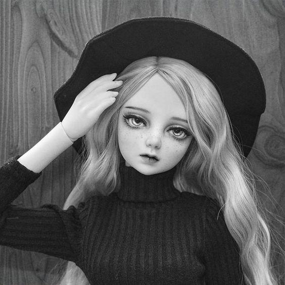 """""""☀ #BJD #구체관절인형 #dollstagram #인형 #돌팩토리 #blackandwhite #흑백"""""""