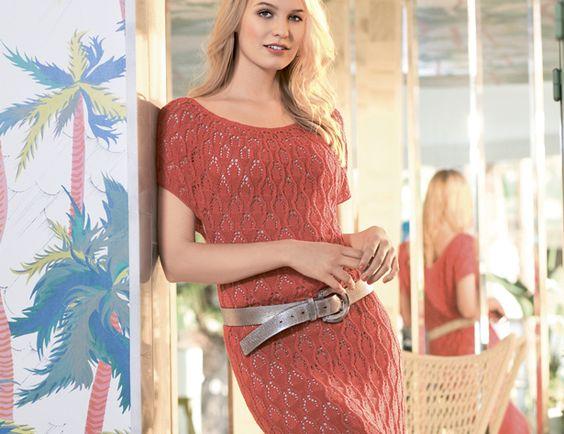 Журнал вязания платья спицами