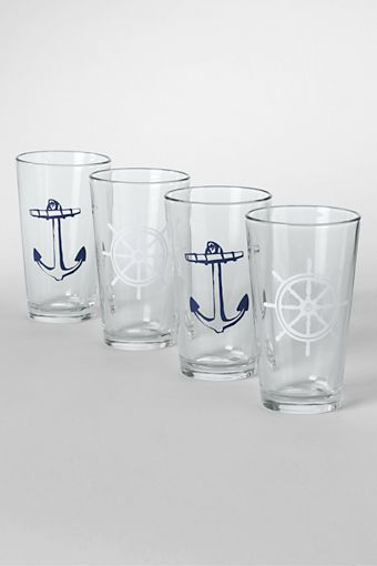 To steal from Shanda's house when she gets them: Nautical Pint Glasses (Set of 4) from Lands' End