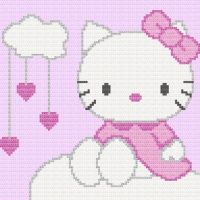 Hello Kitty Afghan Blanket Crochet Pattern