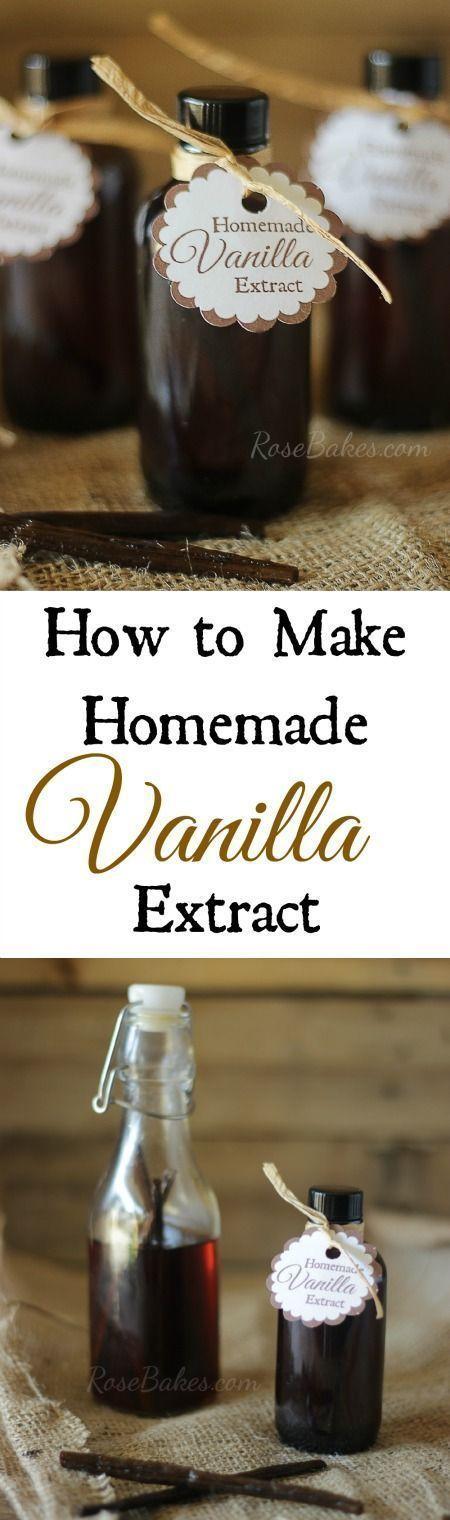 Homemade vanilla extract, Homemade vanilla and How to make homemade on ...