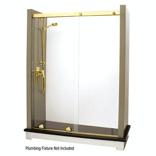 Shower Door Kitscrl Polished Brass Top Guide For Essence Series