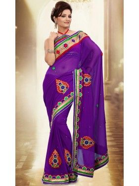 Adorable Purple Saree