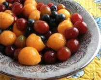 Grape and MelonSalad.  Wheat-free, Corn-free, Egg-free.  Has Yogurt so not Dairy-free or Vegan.