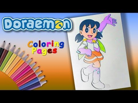 Shizuka Superhero Doraemon Coloring Forkids Doraemon Character Coloring Page Youtube Doraemon My Little Pony Characters Coloring Pages