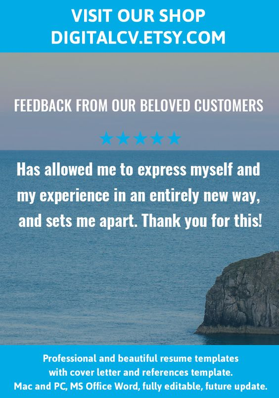 Feedback from our beloved customers Visit DigitalCVEtsy for - feedback templates