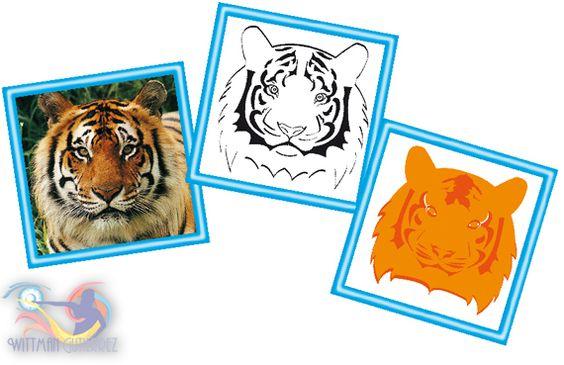 Tigre en Vector