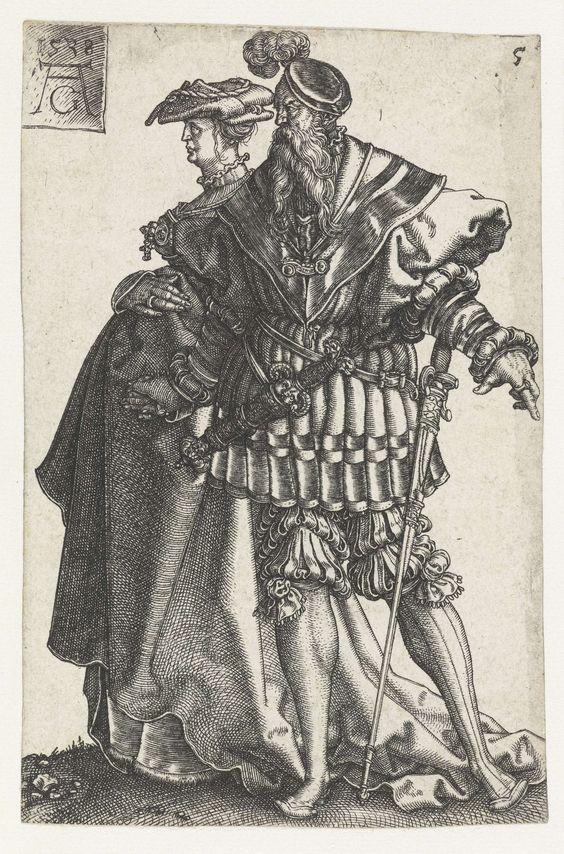"""Dansend paar"", 1538, Heinrich Aldegrever (1502-1561)"