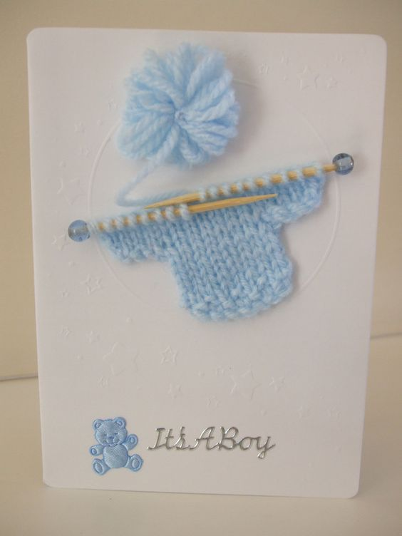 New Baby Boy Card £2.50: