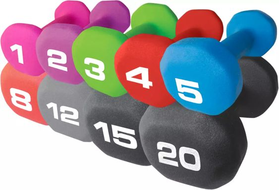 Fitness Gear Neoprene Dumbbell | Free Curbside Pickup at DICK'S -- 3lb, 5lb, plus 3 more