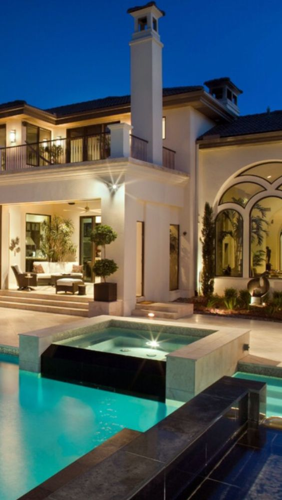 Pools architecture and luxury homes on pinterest Mediterranean style homes houston