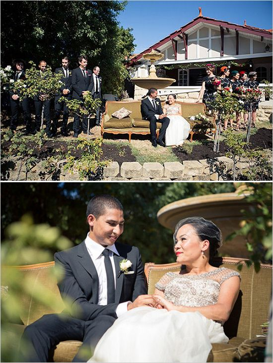 Sitting ceremony to accommodate the gorgeous bride at this vintage inspired wedding with a heart touching story. Captured By: I Heart Weddings #weddingchicks http://www.weddingchicks.com/2014/07/10/australian-wedding-with-a-heart-touching-story/