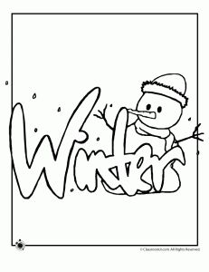 Winter Coloring Pages Coloring pages Pinterest Coloring