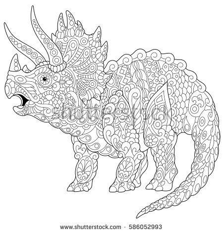 ausmalbilder f erwachsene dinosaurier - tiffanylovesbooks