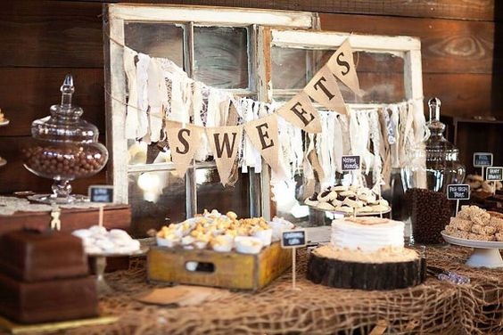 Burlap Wedding Garland fabric garland by VintageSideoftheMoon, $29.00: