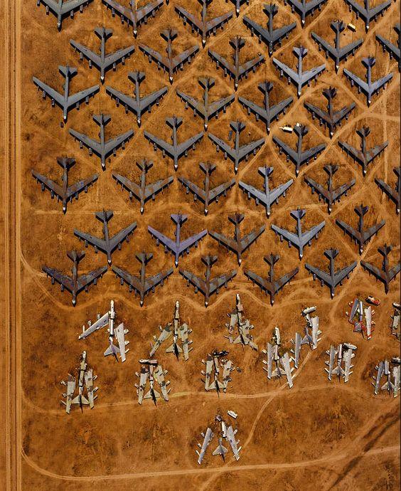 Aerial photograph B-52 Bone Yards by Alex S. MacLean.