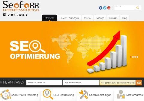 Webdesign für www.seofoxx.de