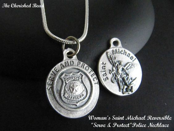 Saint Michael Medal Necklace for by TheCherishedBead, $12.00