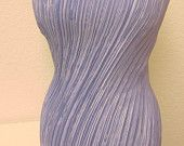 Vintage Mary McFadden Lavender Fortuny Pleat Textile